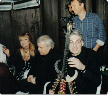 Giger, Stein and Lieber gather around the Gigerstein