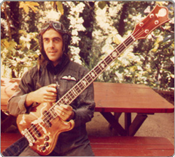 Pete Sears with his custom bass