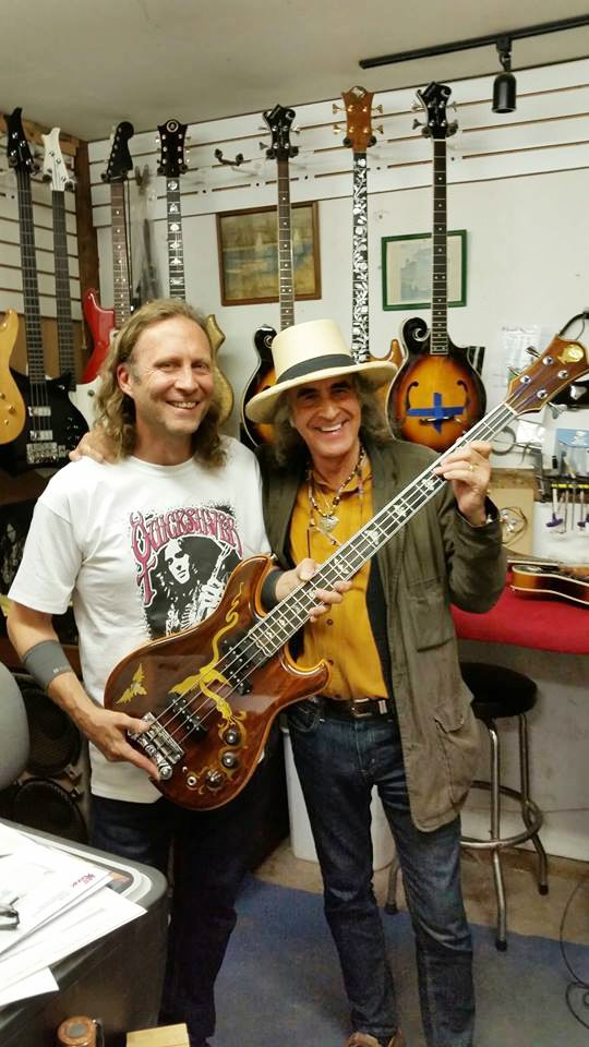 Tom Lieber with Pete Sears and the fabled Dragon